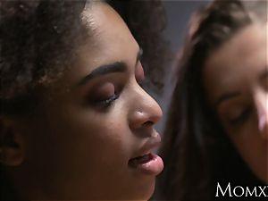 mother ebony bi-curious brazilian face sitting wooly muff