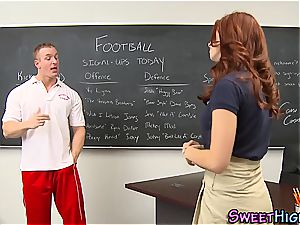 red-haired college girl nasty for a rigid meatpipe to nail her supreme